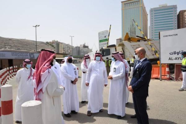 الهيئة الملكية لمكة المكرمة والمشاعر تتفقد مشروعات البنية التحتية للنقل