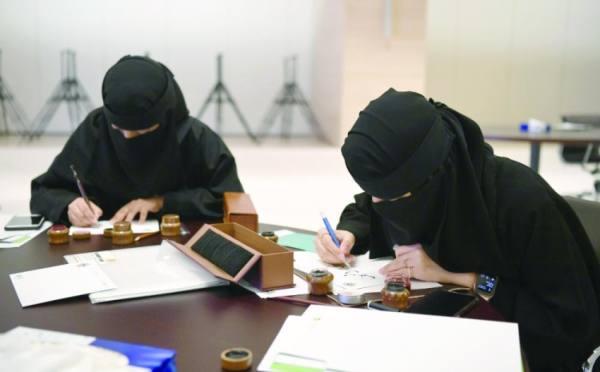 من فعاليات ورشة «حوار الخط العربي»