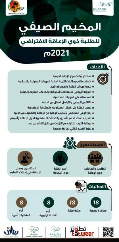 وزارة التعليم تطلق الأسبوع المقبل المخيم الصيفي لطلبة التربية الخاصة وأسرهم