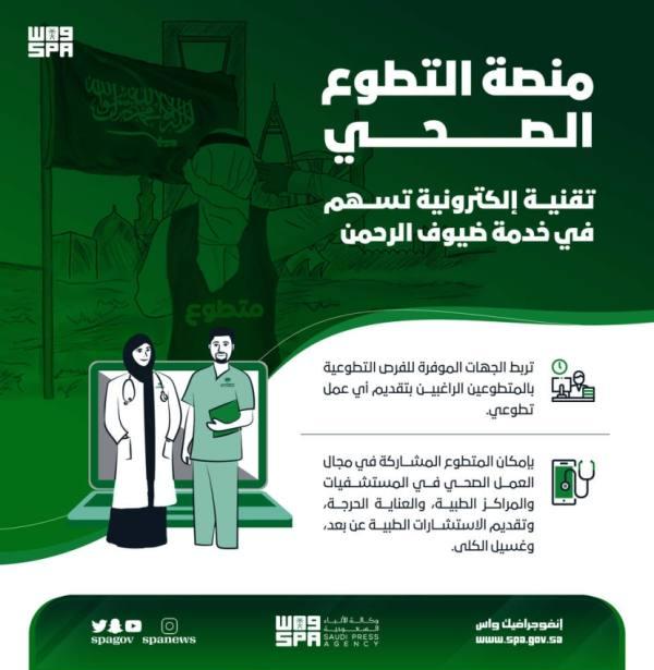 منصة التطوع الصحي.. تقنية إلكترونية تسهم في خدمة ضيوف الرحمن