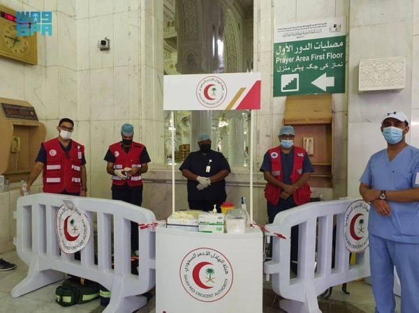 الهلال الأحمر يهيئ 25 مركزاً إسعافياً لاستقبال الحجاج بالعاصمة المقدسة