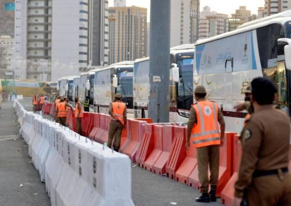 اللواء الجميعي: 2500 حافلة نقل ترددي تخدم الحجاج