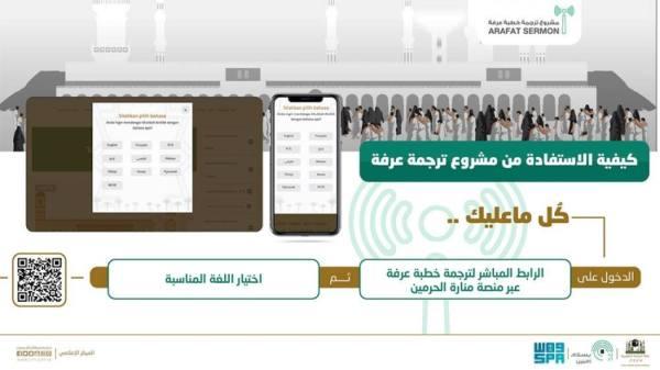 ترجمة خطبة عرفات تستهدف 100 مليون مستفيد