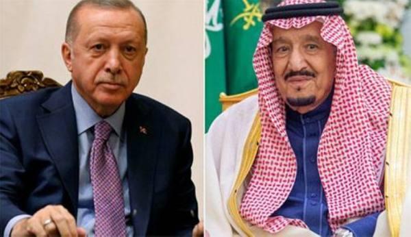 الملك يستعرض مع  أردوغان العلاقات الثنائية