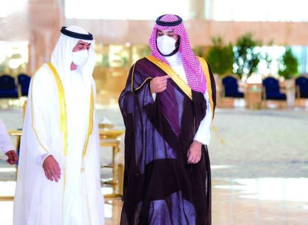 ولي العهد ومحمد بن زايد يبحثان المستجدات الدولية وأوجه التعاون الثنائي