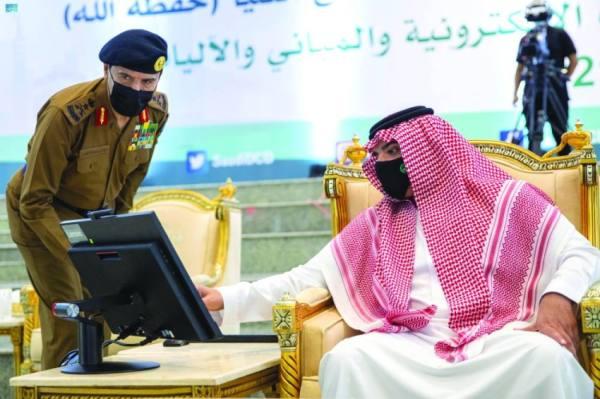 وزير الداخلية يدشن العربات المطورة ومقرات الدفاع المدني بالمشاعر