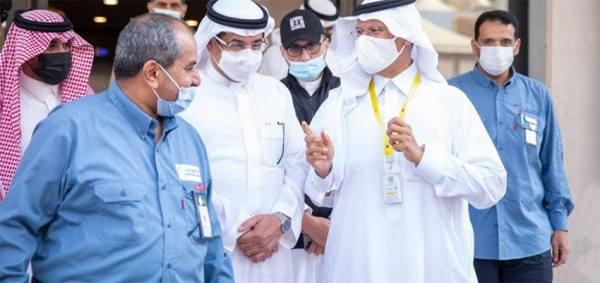 وزير الطاقة ووزير الحج والعمرة يتفقدان الخدمات الكهربائية المقدمة للحجاج
