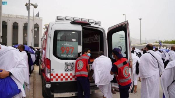 الهلال الأحمر يتلقى (11516) مكالمة في مكة والمشاعر