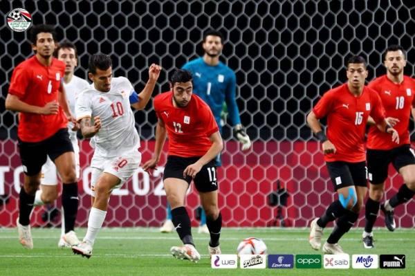 تعادل المنتخب المصري مع الإسباني في أولمبياد طوكيو