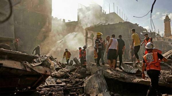 قتيل وعشرة جرحى في انفجار وسط مدينة غزة