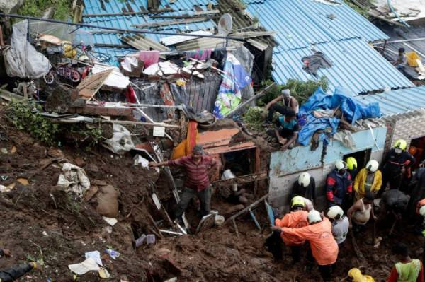 مصرع 36 شخصاً وفقدان العشرات لانزلاق تربة في الهند