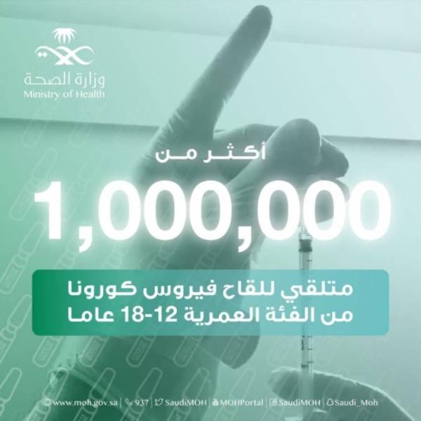 إعطاء مليون جرعة لقاح للأعمار من 12 إلى 18 عاماً