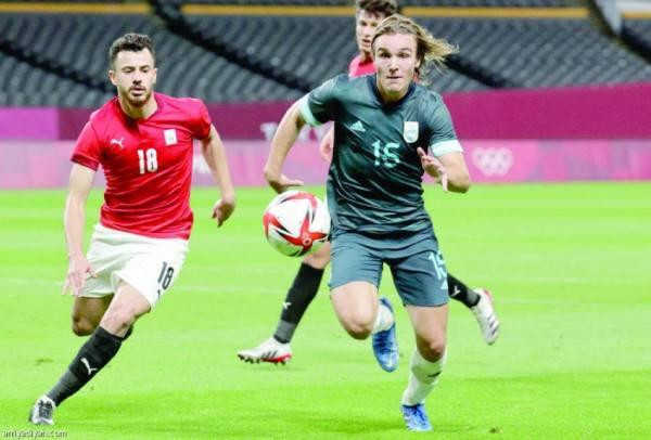 من مباراة مصر والأرجنتين