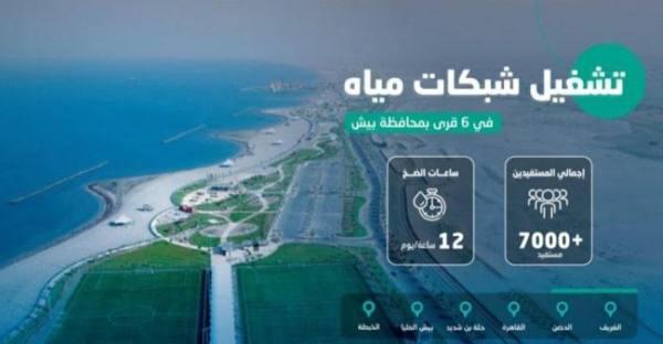 تشغيل شبكات المياه في 6 قرى ببيش 12 ساعة يومياً