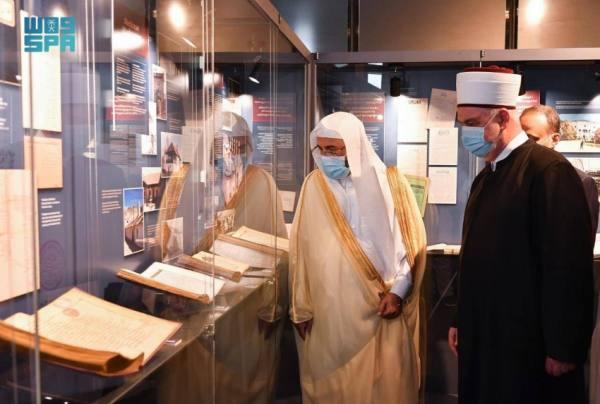 آل الشيخ يزور مسجد الغازي خسروا بيك والمدرسة والمكتبة الإسلامية بسراييفو