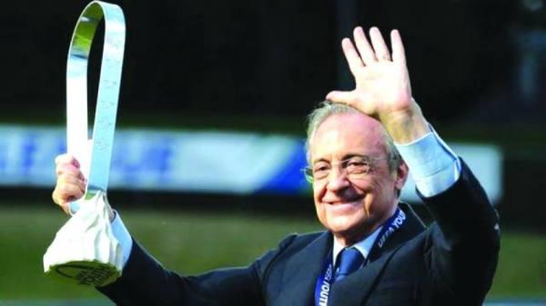 رئيس ريال مدريد على رأس الداعمين للدوري السوبر