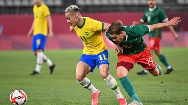 من مباراة البرازيل والمكسيك