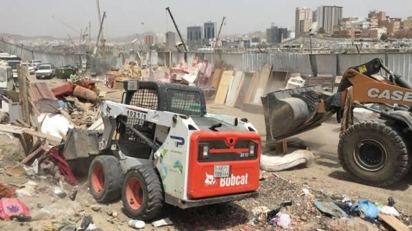 أمانة مكة تضبط موقعاً لبيع السكراب في جبل غراب
