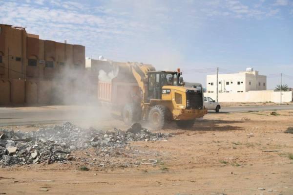 أمانة الجوف تزيل 759 ألف م3 من مخلفات البناء والهدم