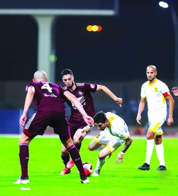 الأحمدي لدى مشاركته في مباراة الفيصلي