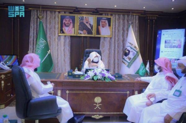 السديس يلتقى وكيل الرئيس العام لشؤون الأئمة والقيادات بوكالة المسجد النبوي
