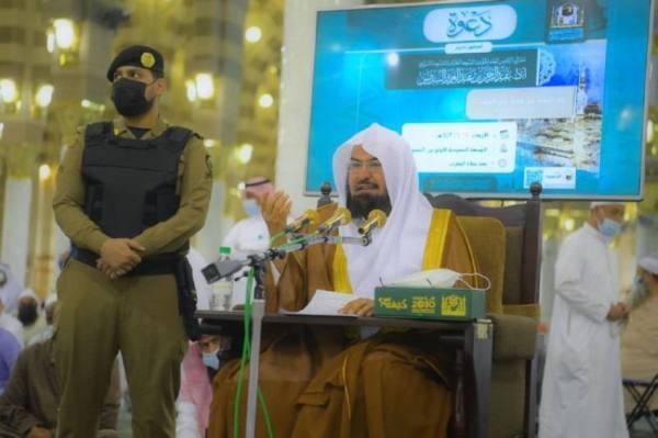 السديس يستأنف درسه الشهري بالمسجد النبوي مع تطبيق الإجراءات الاحترازية