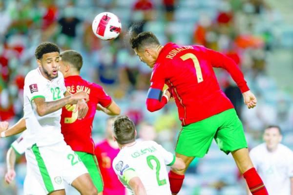 رونالدو يهدي البرتغال ثلاث نقاط ثمينة في الوقت القاتل برأسية متقنة