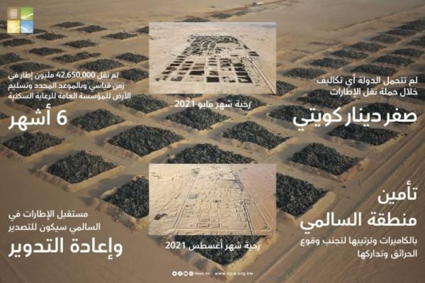 أكبر مقبرة للإطارات في العالم.. تتجه نحو إعادة التدوير