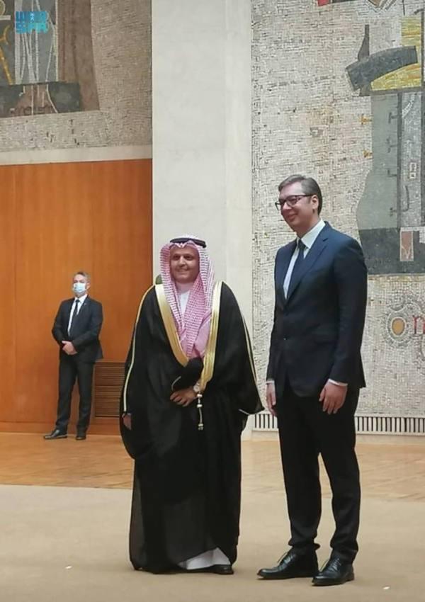 الأحمدي يقدّم أوراق اعتماده سفيراً غير مقيم للرئيس الصربي