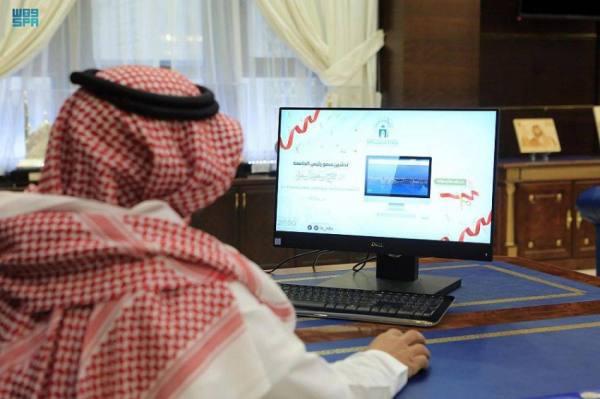 رئيس الجامعة الإسلاميّة يدشّن أنظمة إلكترونيّة لإدارة وقياس مؤشّرات الأداء بالجامعة