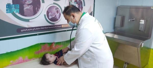 عيادات مركز الملك سلمان للإغاثة تقدّم خدماتها الطبّيّة لـ 375 مريضاً في مخيّم الزعتري