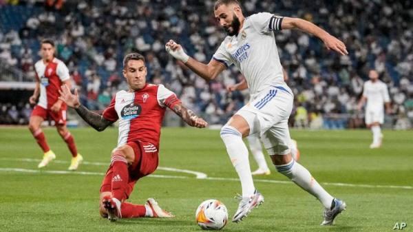 ريال مدريد يستعيد الصدارة بفضل ثلاثية لبنزيمة