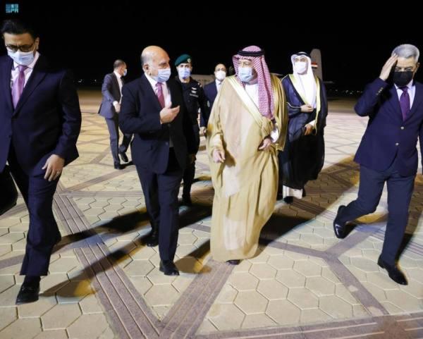 الخريجي يستقبل وزير خارجية العراق