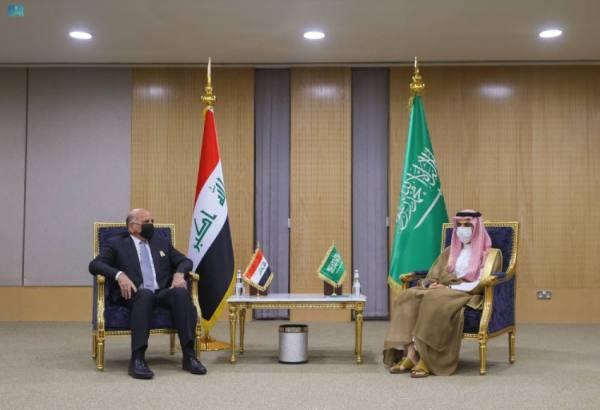 وزير الخارجية يبحث مع نظيره العراقي  سبل تعزيز التنسيق المشترك