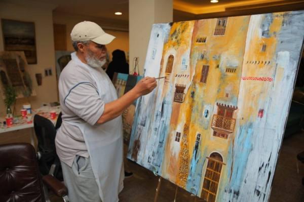 العلاوي يقدم ورشة تشكيلية في ادبي جدة