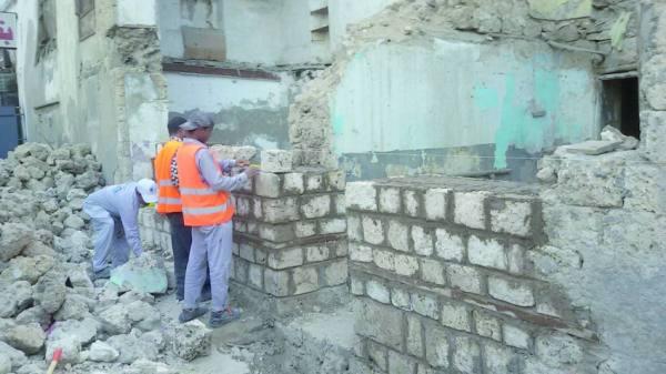 أعمال البناء والترميم والصيانة في كافة أنحاء المنطقة التاريخية