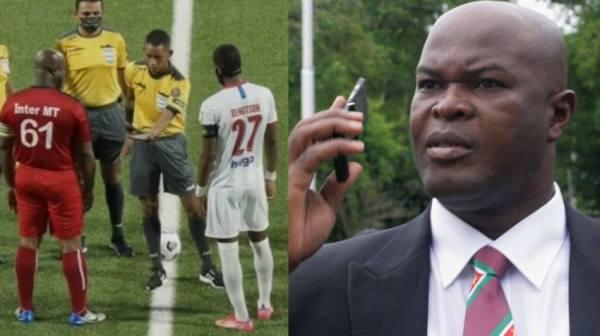نائب رئيس دولة يقود فريقه في مباراة كرة قدم