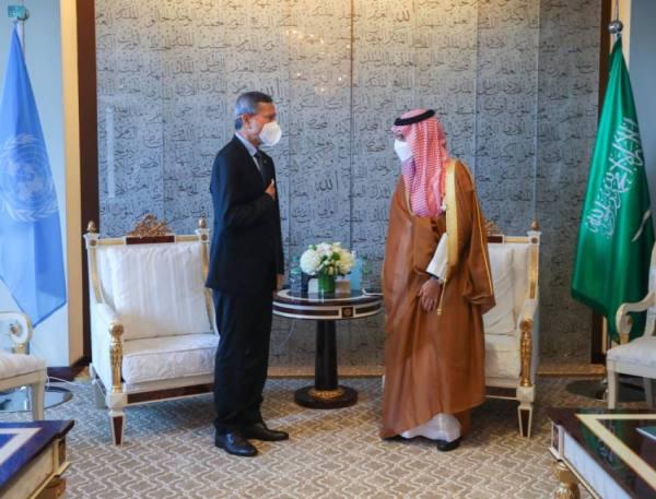 وزير الخارجية يستعرض مع نظيره السنغافوري الموضوعات الإقليمية والدولية