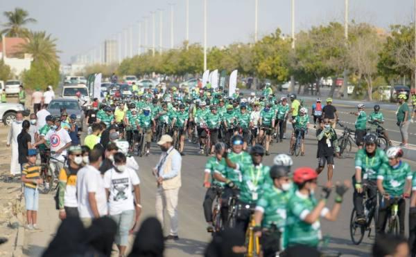 مسيرة للدراجات الهوائية احتفالا باليوم الوطني