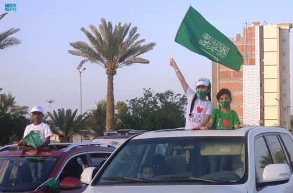 مظاهر الفرح تعم محافظة أملج باليوم الوطني
