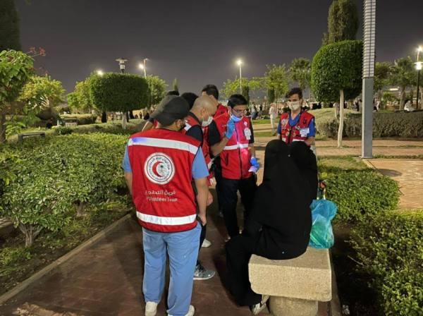 الفرق الإسعافية التطوعية تباشر 35 حالة وتنقل 3 حالات للمستشفى