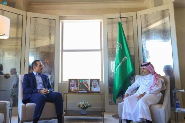 وزير الخارجية ونظيره القطري يتبادلان وجهات النظر حيال القضايا الإقليمية والدولية