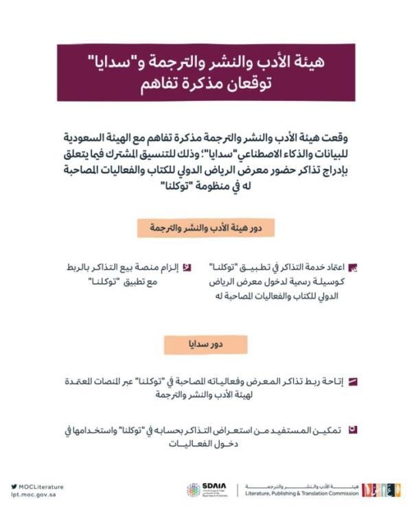إدراج تذاكر حضور معرض الرياض الدولي للكتاب في
