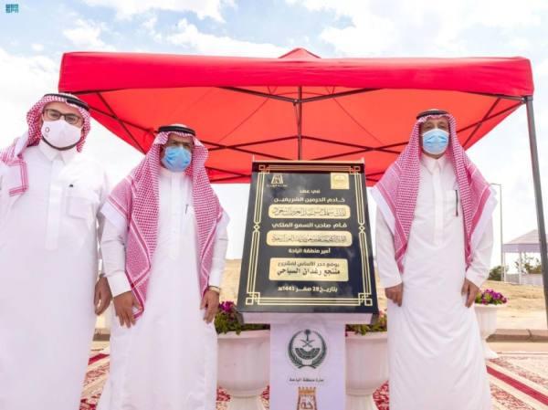 أمير الباحة يتفقد مشروعات الأمانة ويضع حجر الأساس لمنتجع رغدان السياحي