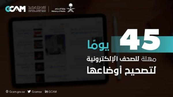 إمهال الصحف الإلكترونية 45 يومًا لتصحيح أوضاعها