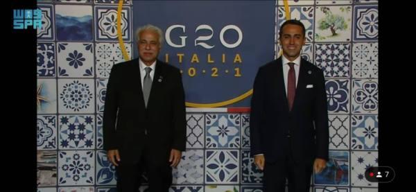 القصبي يشارك في حفل عشاء رؤساء وفود التجارة لمجموعة العشرين بإيطاليا