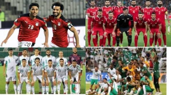 ترتيب المنتخبات العربية في تصفيات كأس العالم وفرص التأهل